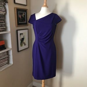 Tahari | Asymmetrical Neckline Sheath Dress